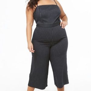 Forever21+ Striped Jumpsuit